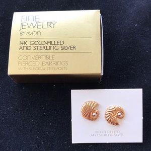VintageAvon 14K GoldFilled&SterlingSilver Earrings